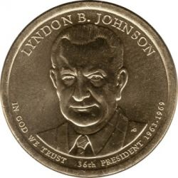 Moneta > 1 dollaro, 2015 - USA  (President of the USA - Lyndon Johnson (1963–1969)) - obverse