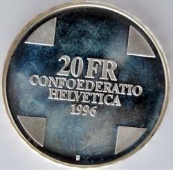 Moneta > 20franków, 1996 - Szwajcaria  (Smok z Berna) - obverse