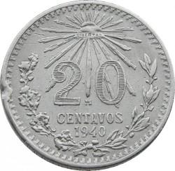 Монета > 20сентаво, 1920-1943 - Мексика  - reverse