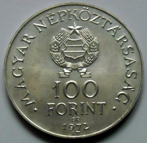 100 Forint 1972 Union Of Buda And Pest Ungarn Münzen Wert