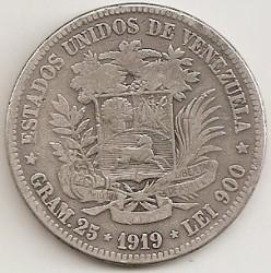 Moneta > 5bolivarai, 1900-1936 - Venesuela  - obverse