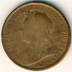 Moneda > ½penny, 1895-1901 - Regne Unit  - obverse