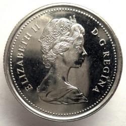 Moneta > 25centów, 1973 - Kanada  (100 rocznica - Królewska Kanadyjska Policja Konna) - obverse