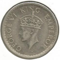 Moneta > ½rupia, 1941-1942 - India Britannica  - obverse
