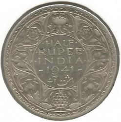 Moneta > ½rupia, 1941-1942 - India Britannica  - reverse