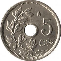 Moneta > 5centesimi, 1932 - Belgio  (Stella) - reverse