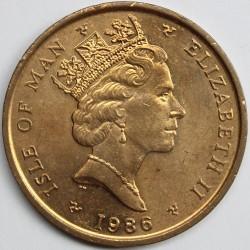 Монета > 2пенса, 1985-1987 - Остров Ман  - obverse