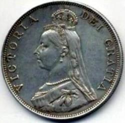 Moeda > 2shillings(florin), 1887-1892 - Reino Unido  - obverse