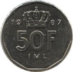 Кованица > 50франака, 1987-1989 - Луксембург  - reverse