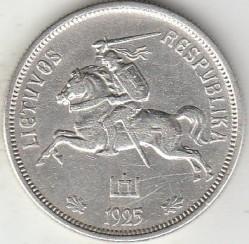 سکه > 5لیتا, 1925 - لیتوانی  - reverse