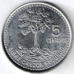 Монета > 5сентаво, 2009-2014 - Гватемала  - reverse