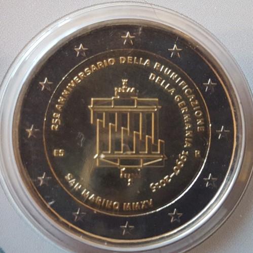 2 Euro 2015 Deutsche Wiedervereinigung San Marino Münzen Wert