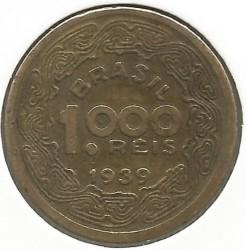 Moneda > 1000réis, 1939 - Brasil  - obverse