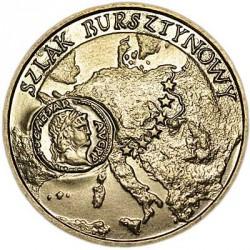 Монета > 2злотих, 2001 - Польща  (Бурштиновий шлях) - reverse