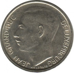 Mynt > 1 franc, 1965-1984 - Luxembourg  - obverse