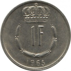 Mynt > 1 franc, 1965-1984 - Luxembourg  - reverse