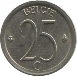 Монета > 25сантима, 1964-1975 - Белгия  (Legend in Dutch - 'BELGIE') - reverse