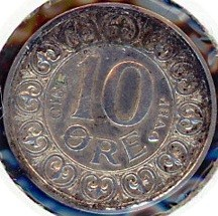 Coin > 10ore, 1910 - Denmark  - obverse