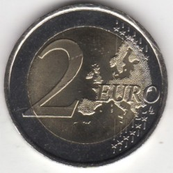 Coin > 2 euro, 2014 - Andorra  (20th Anniversary - Entry the Council of Europe) - obverse