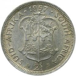 Monēta > 2šiliņi(florīns), 1953-1960 - Dienvidāfrika  - reverse
