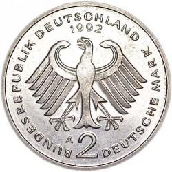 Moneta > 2markės, 1979-1993 - Vokietija  (Dr. Kurt Schumacher. 30th Anniversary - Federal Republic (1949 - 1979)) - obverse