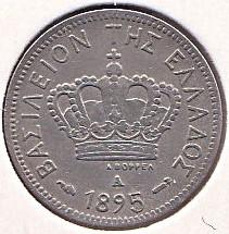 錢幣 > 5雷普塔, 1894-1895 - 希臘  - obverse