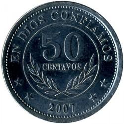 Монета > 50сентаво, 2007-2014 - Нікарагуа  - obverse
