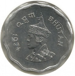 Mynt > 10chetrums, 1974 - Bhutan  - obverse
