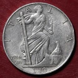 Moneta > 10lirów, 1936 - Włochy  - reverse