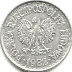 Монета > 1злотый, 1957-1985 - Польша  - obverse