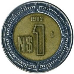 Pièce > 1nouveaupeso, 1992 - Mexique  - reverse