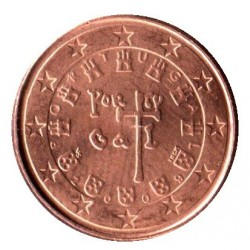 Coin > 1 euro cent, 2009 - Portugal  - reverse