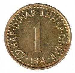Coin > 1dinar, 1982-1986 - Yugoslavia  - reverse