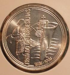 Moneta > 1000scudi, 1994 - Portogallo  (500° anniversario - Trattato di Tordesillas ) - reverse