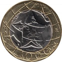 Pièce > 1000lires, 1997 - Italie  (Union européenne, confondu sur la carte - RDA et RFA) - reverse