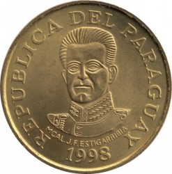 Coin > 50 guaranies, 1995-2005 - Paraguay  - obverse