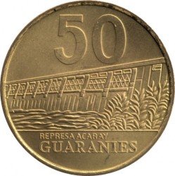 Coin > 50 guaranies, 1995-2005 - Paraguay  - reverse