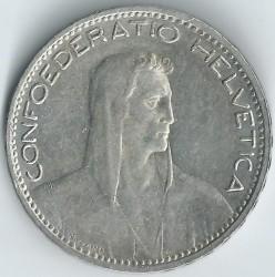 錢幣 > 5法郎, 1922-1923 - 瑞士  - obverse