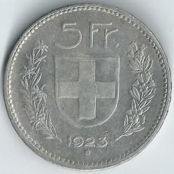 錢幣 > 5法郎, 1922-1923 - 瑞士  - reverse