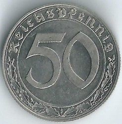 العملة > 50رايخبفنغ, 1938-1939 - ألمانيا الرايخ الثالث  - obverse