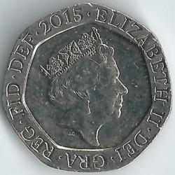 العملة > 20بنس , 2015-2019 - المملكة المتحدة  - obverse