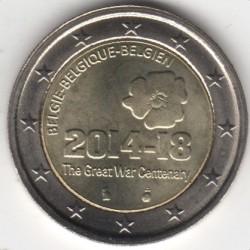 Moneda > 2euros, 2014 - Bélgica  (100avo aniversario de la primera guerra mundial) - reverse