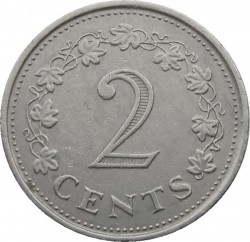 Монета > 2центи, 1972 - Мальта  - reverse