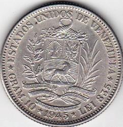 Münze > 2Bolivares, 1945 - Venezuela  - obverse
