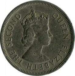 Mynt > 1dollar, 1960-1970 - Hong Kong  - reverse