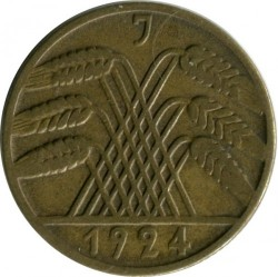 Moneda > 10rentenpfennig, 1923-1925 - Alemania  - reverse