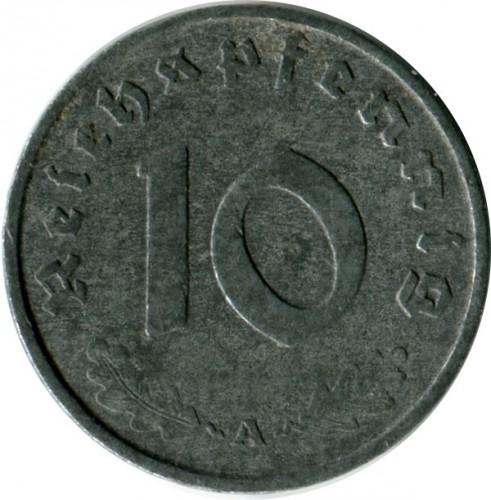 #122 Set of  Germany 1 2 5 /& 10 Reichspfennig coins 1937-1939 WWII