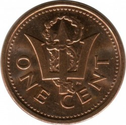 Coin > 1 cent, 1992-2007 - Barbados  - obverse