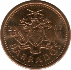 Coin > 1 cent, 1992-2007 - Barbados  - reverse