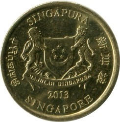Moneta > 5centesimi, 2013-2017 - Singapore  - reverse